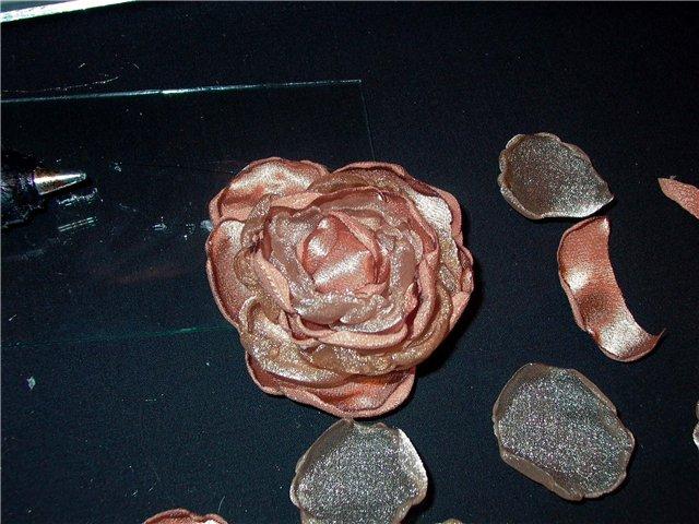 Опять цветы из ткани